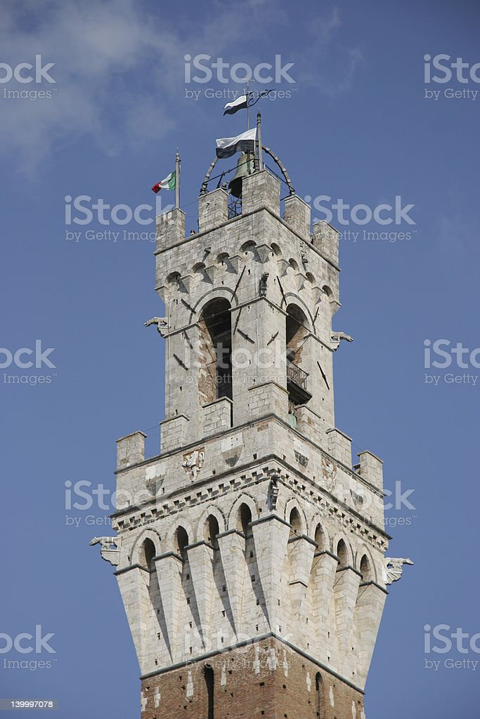 Tower of Mayors House in Siena / Tuscany / Italy stock photo