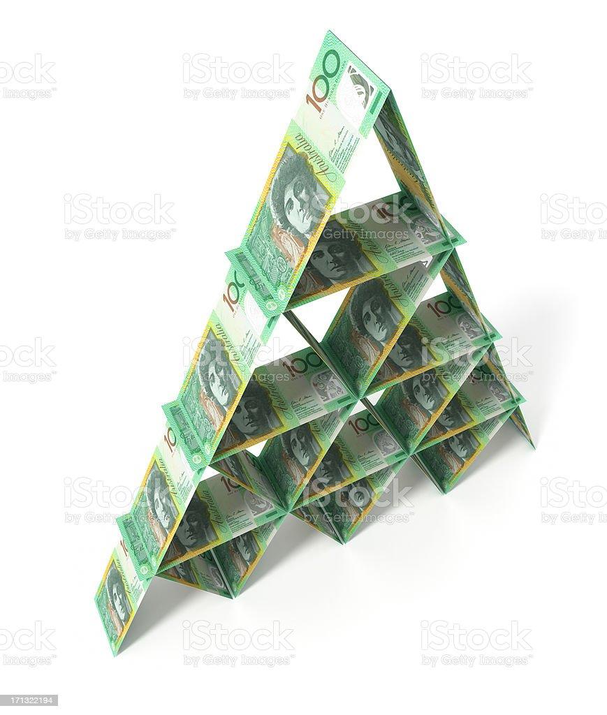Tower of money. Australian Dollars. royalty-free stock photo