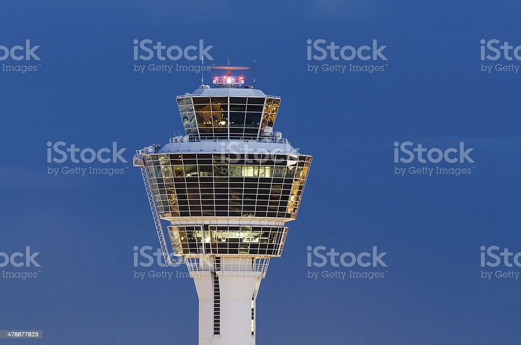Tower of Munich Airport stock photo