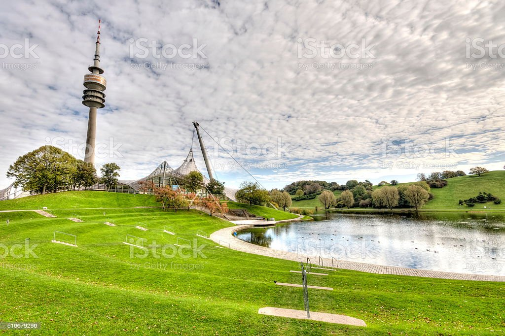 TV Tower of Munich in Germany stock photo