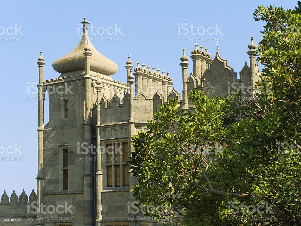 Tower of old palace royalty-free stock photo