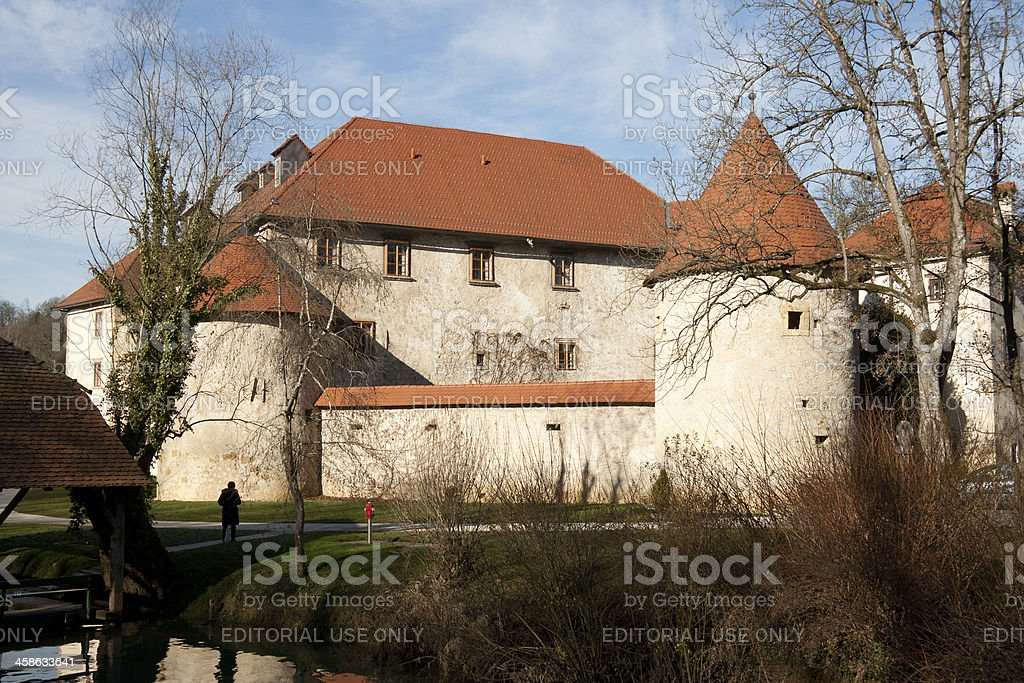 Tower of Otocec Castle - near Novo Mesto stock photo