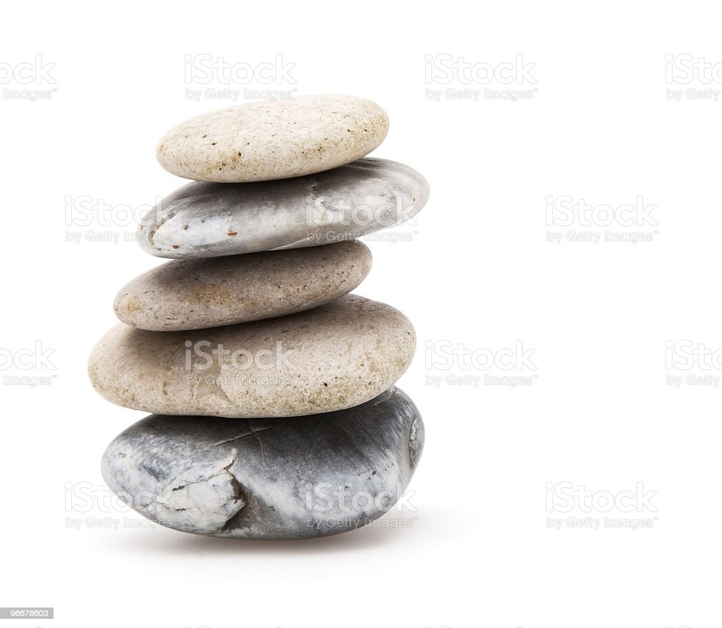 Tower of pebbles stock photo