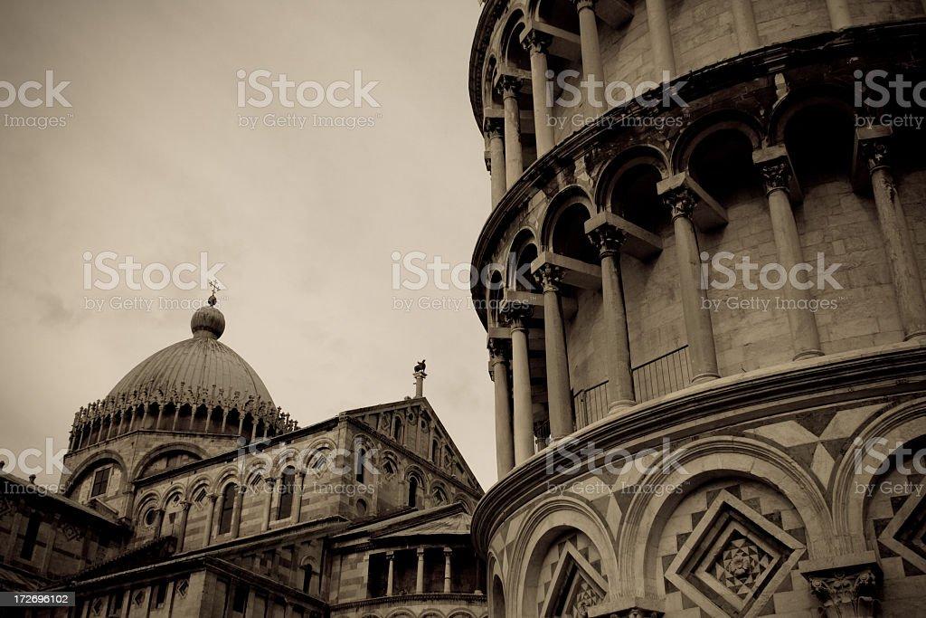 Tower of Pisa And Duomo, Italy stock photo