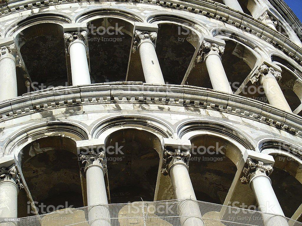 Tower of Pisa, Italy | Pillars royalty-free stock photo
