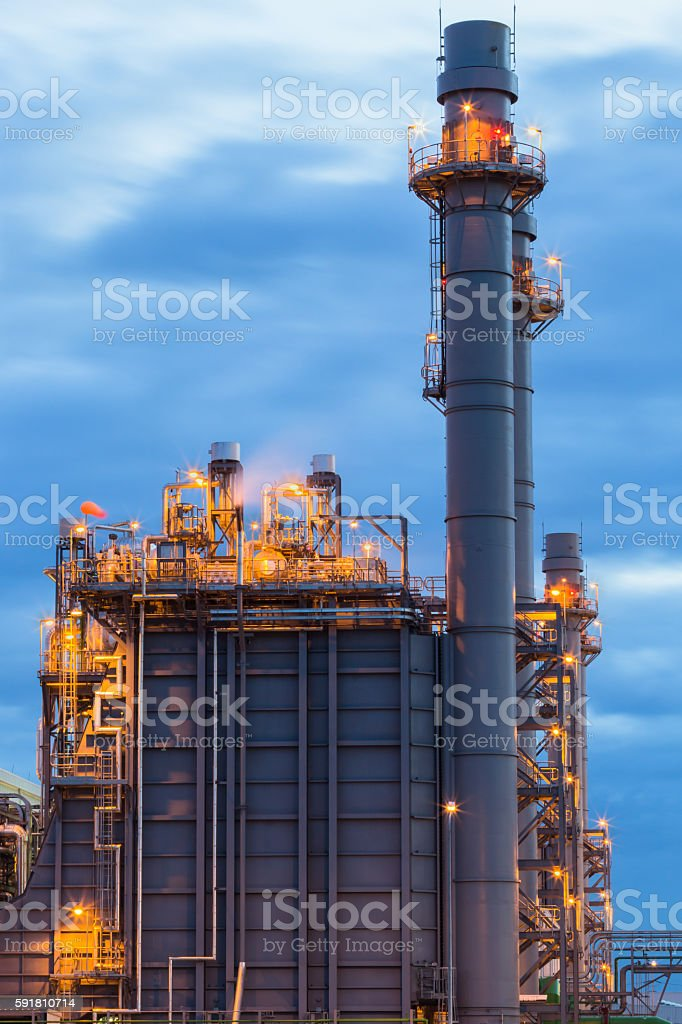 Tower of power plant stock photo