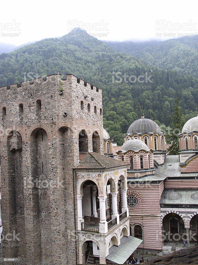 Tower of Rila Monastry royalty-free stock photo