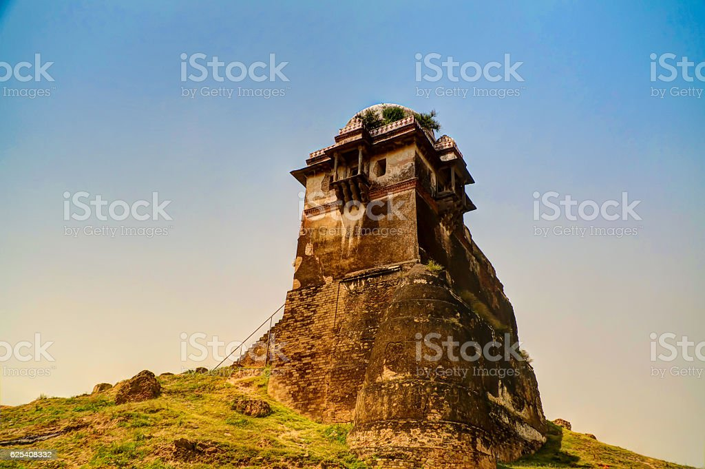 Tower of Rohtas fortress in Punjab Pakistan stock photo