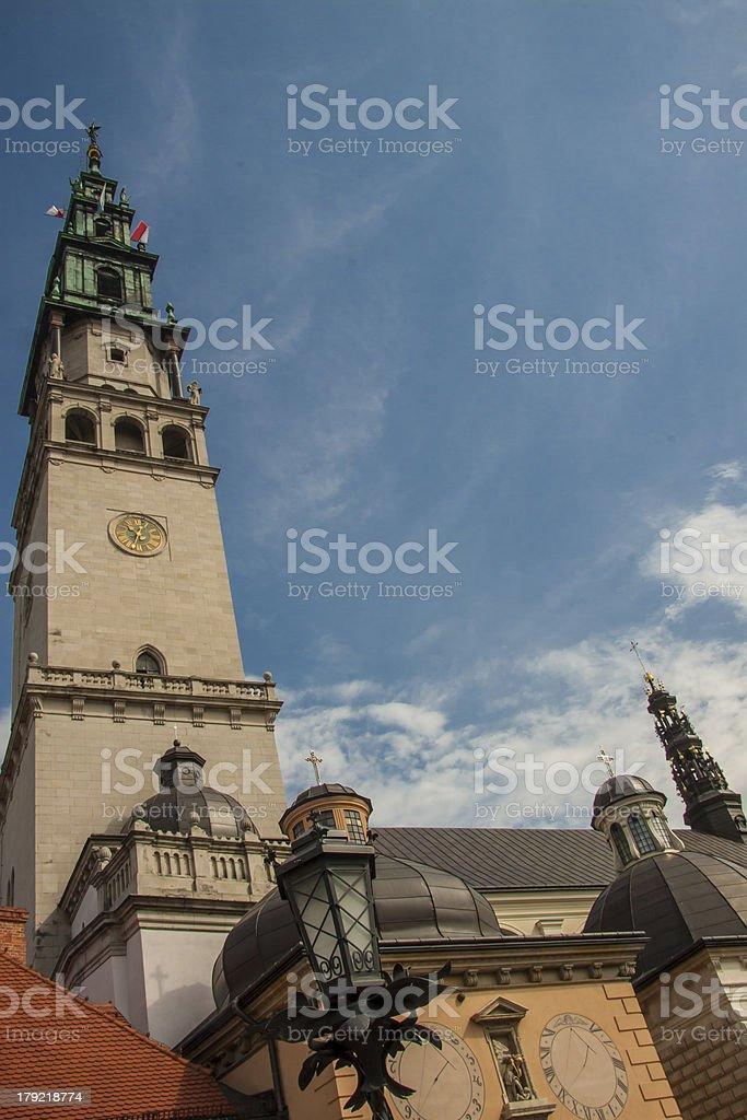 Tower of sanctuary in Jasna Gora - Czestochowa, Poland. royalty-free stock photo
