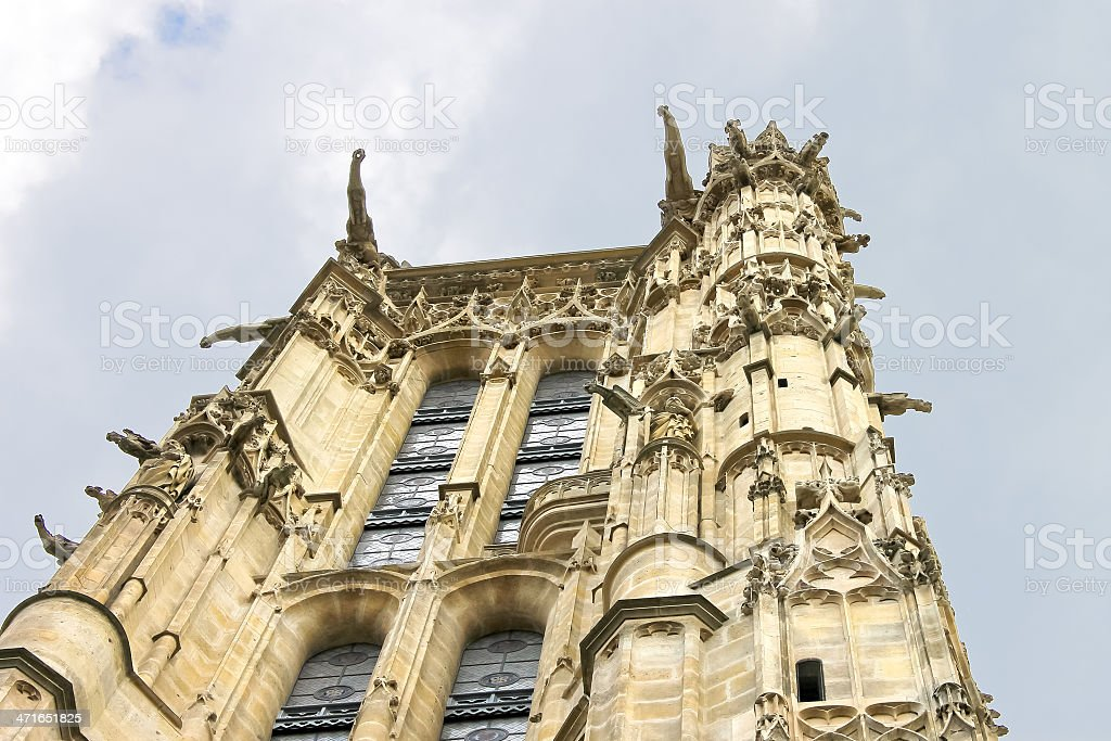 Tower of St. Jacques in Paris. France stock photo