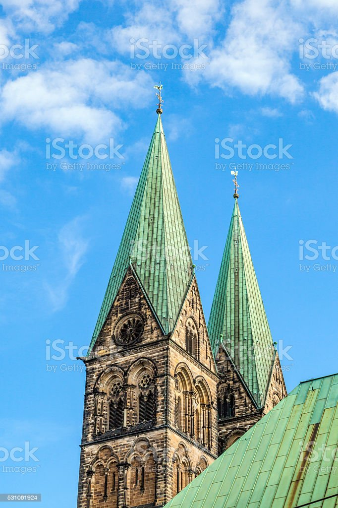 tower of St. Petri dome in Bremen stock photo