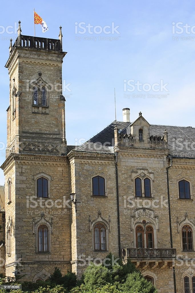 Tower of Sychrov castle royalty-free stock photo