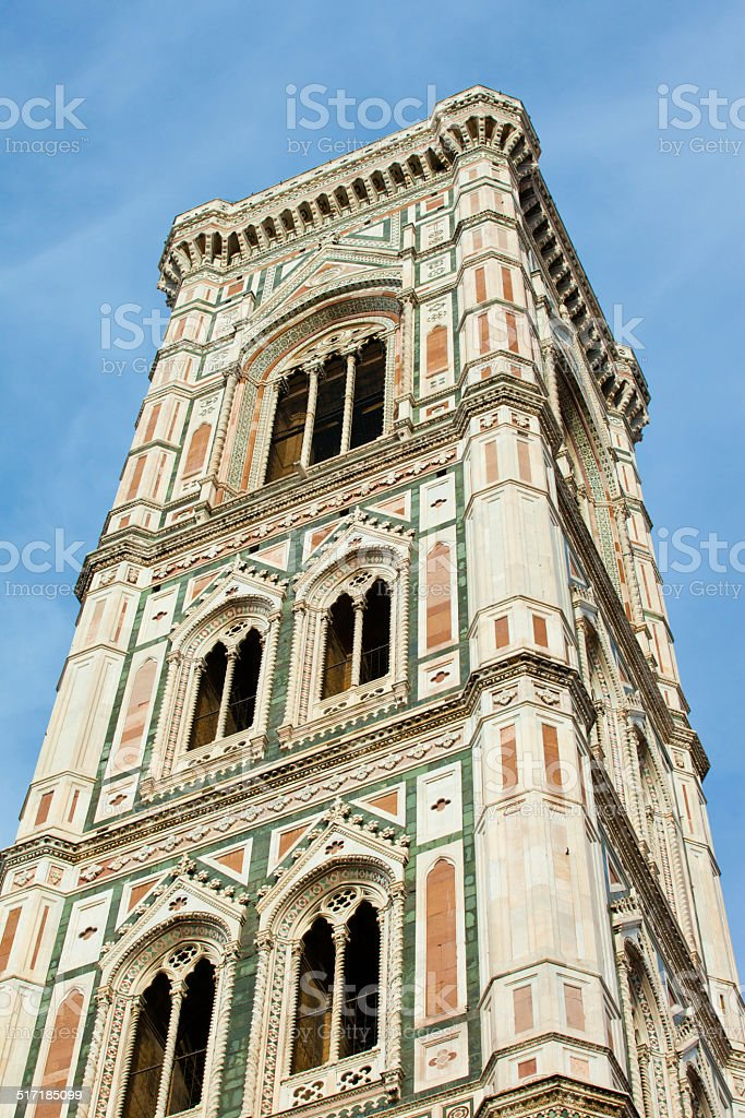 Tower of the Basilica di Santa Maria del Fior,  Florence stock photo
