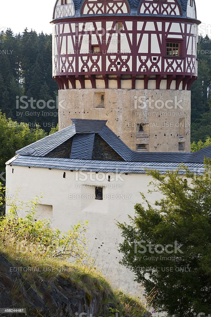 Tower of the Castle 'Burgk' at Burgk stock photo