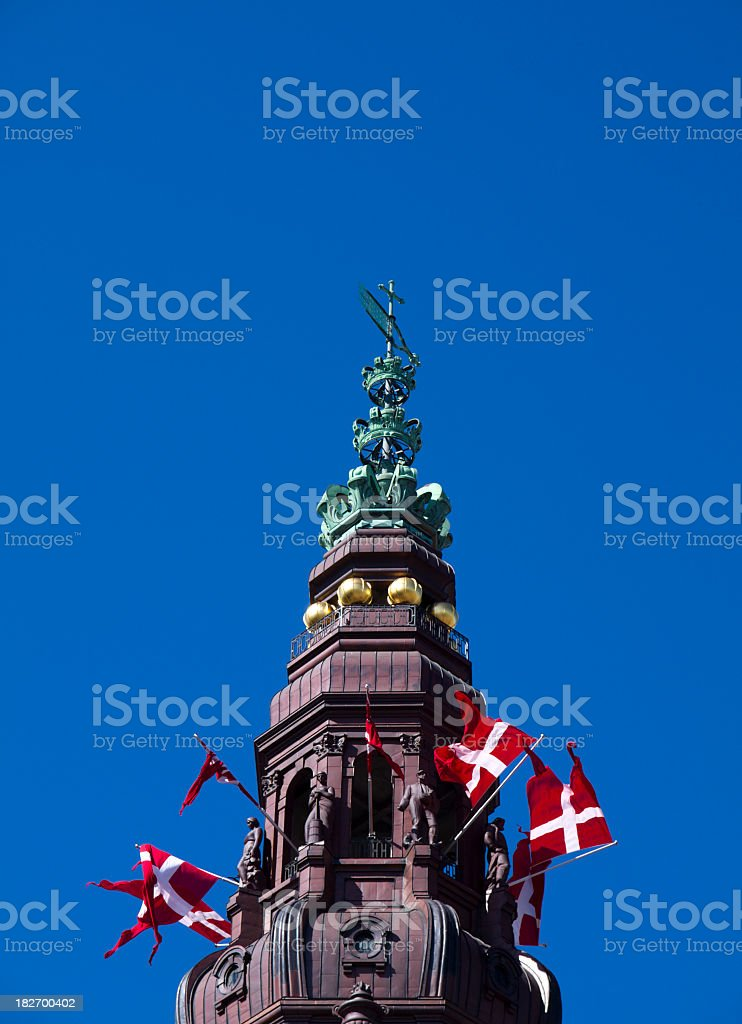 Tower of the Danish parliament stock photo