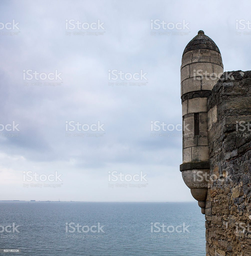 Tower of the fortress Ene-Calais. the Black Sea View stock photo