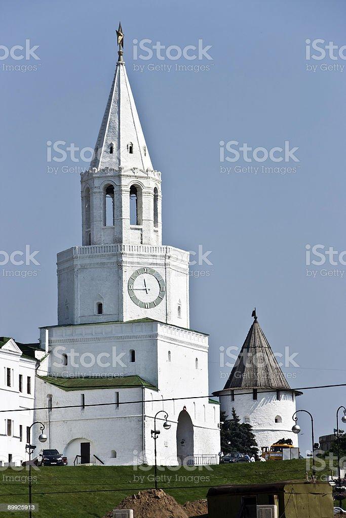 Tower of the Kazan Kremlin royalty-free stock photo
