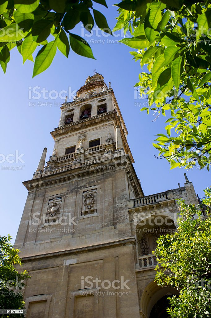 Tower of the Mosque Cordoba stock photo
