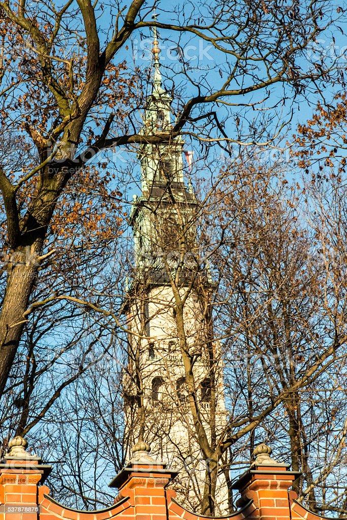 tower of the shrine of Jasna Gora in Czestochowa stock photo