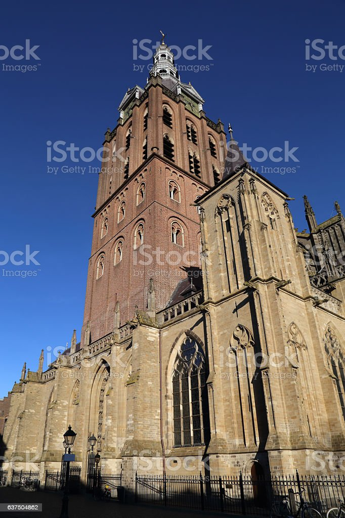 Tower of the Sint-Janskathedraal in Den Bosch, Holland stock photo