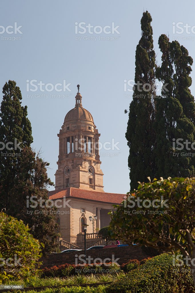 Tower of the Union buildings stock photo