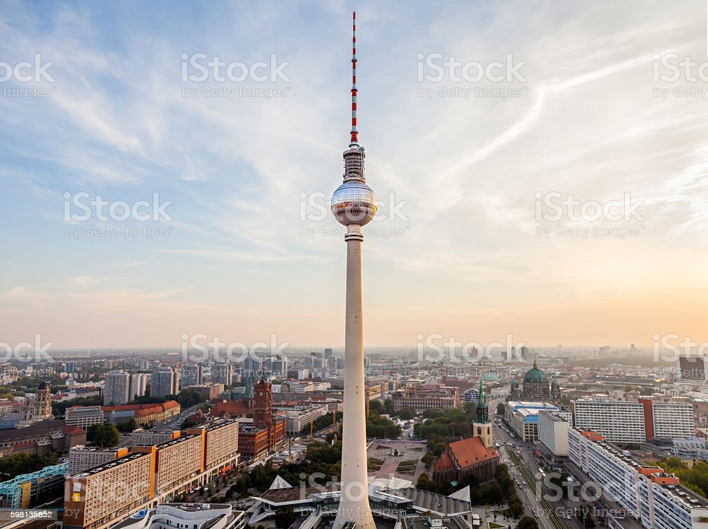 TV tower on Alexanderplatz, Berlin, Germany stock photo