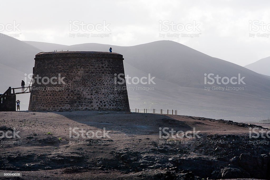 Tower on the island of Fuerteventura stock photo