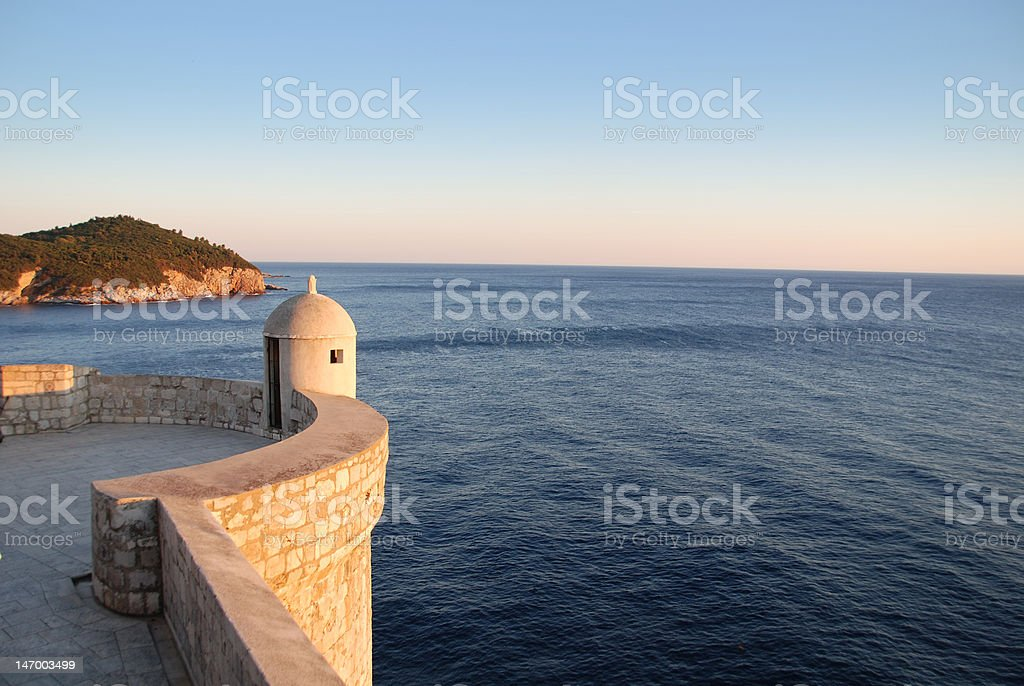 Tower over the Adriatic royalty-free stock photo