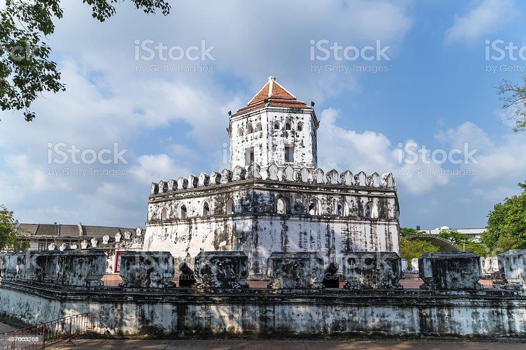 tower Phra Sumen Fort, Mahakan Fort stock photo