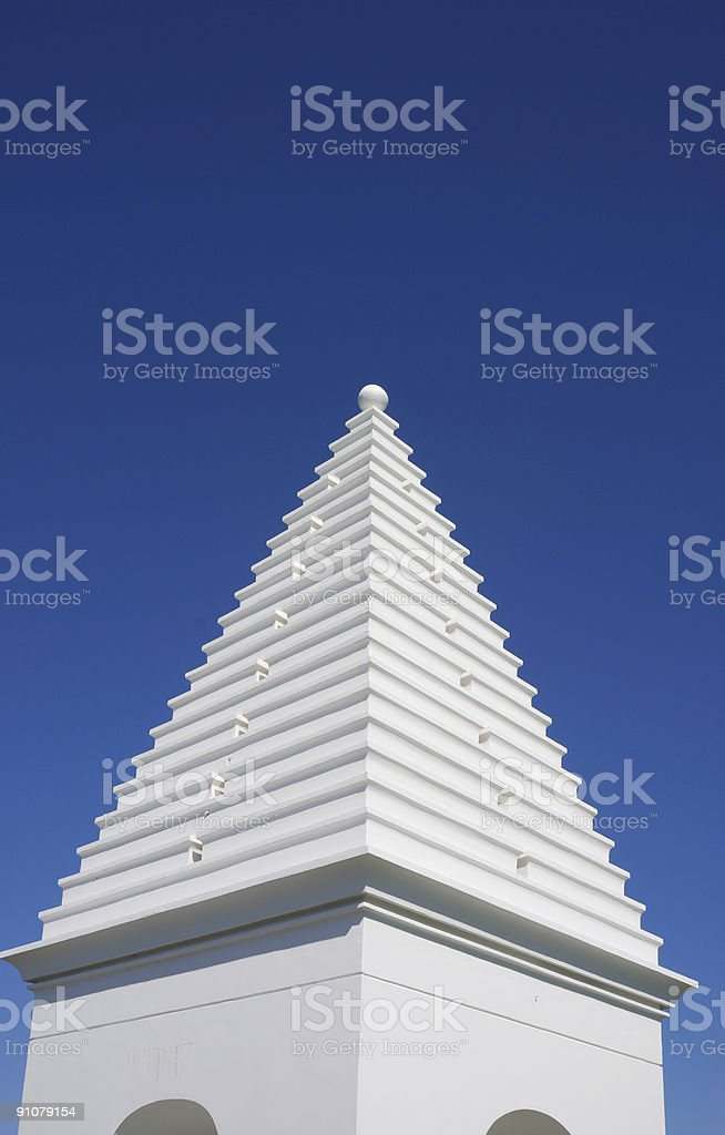 Tower Pointing to Sky stock photo