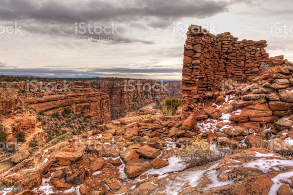 Tower Ruin on Mule Canyon stock photo