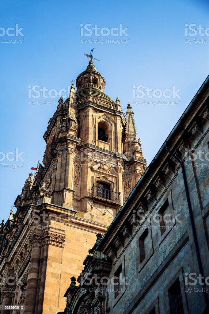 Tower salamanca cathedral, Spain stock photo