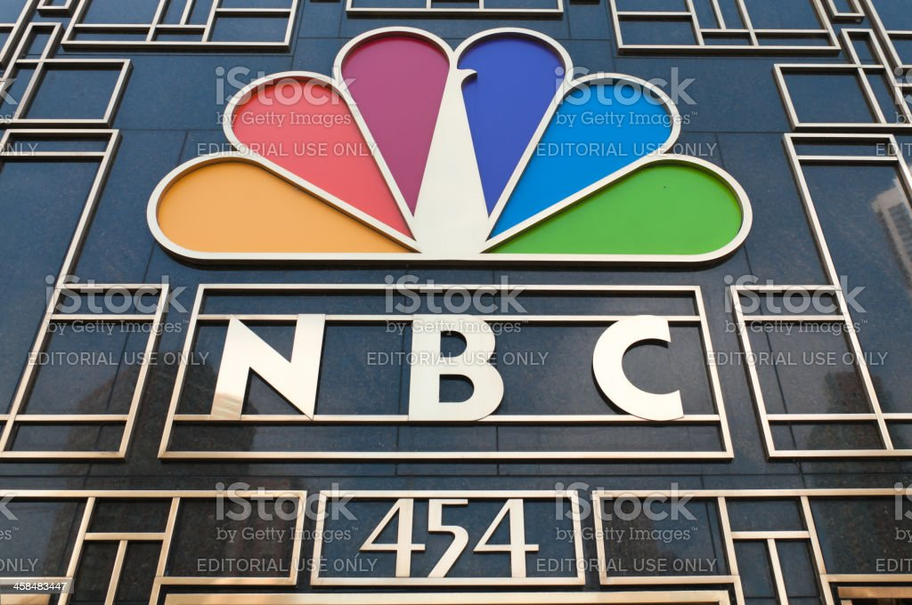 NBC Tower Sign in Chicago royalty-free stock photo