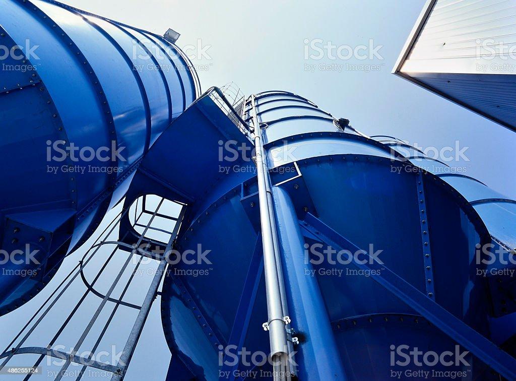Tower Silos Bulk Storage stock photo