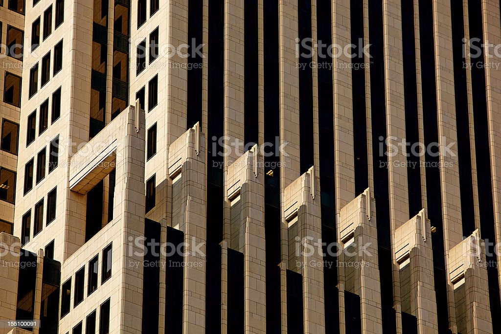 NBC Tower Spandrels in Chicago, Close Up at 200mm stock photo