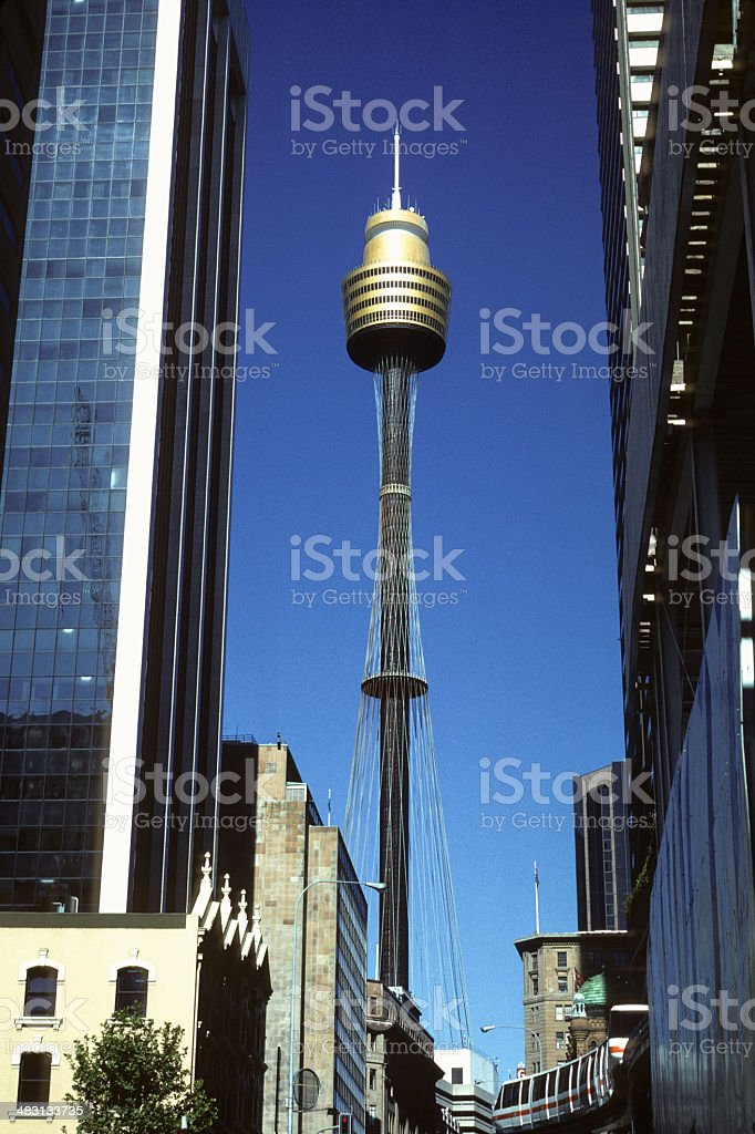 AMP Tower - Sydney royalty-free stock photo
