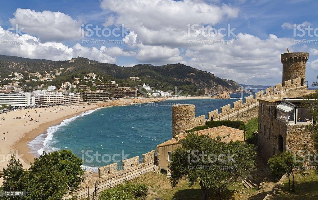 Tower Tossa de Mar, Spain stock photo