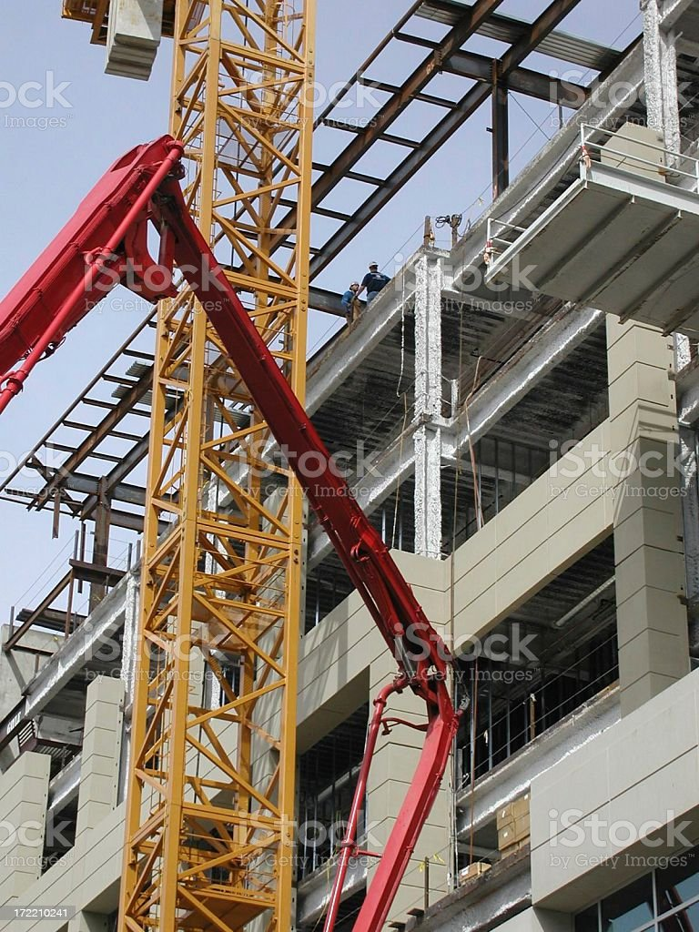 Tower under construction stock photo