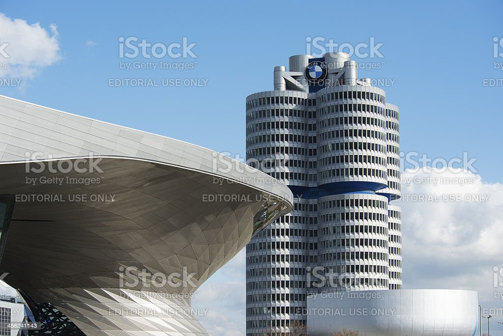 BMW Tower Welt and Museum stock photo