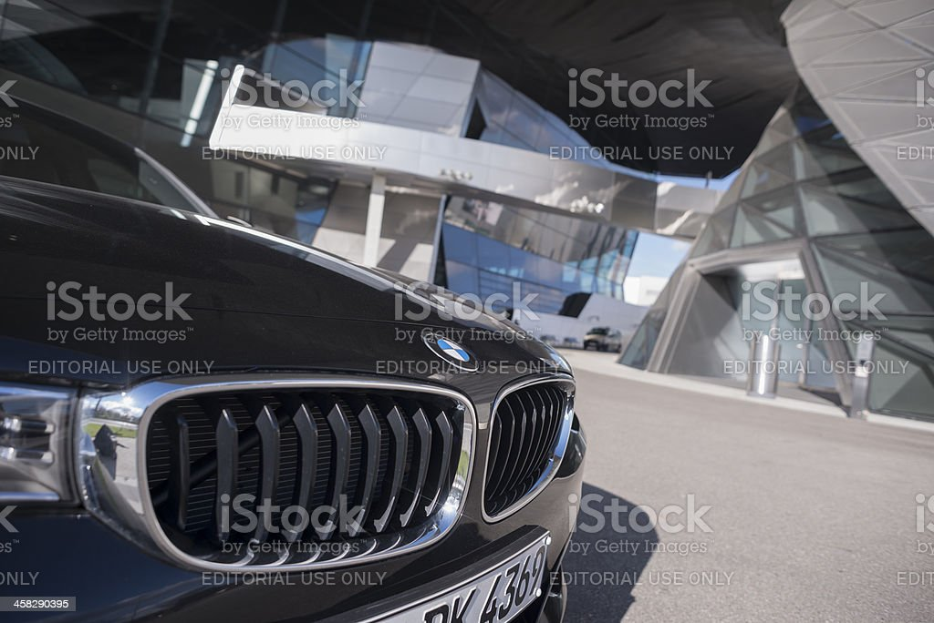 BMW Tower Welt stock photo