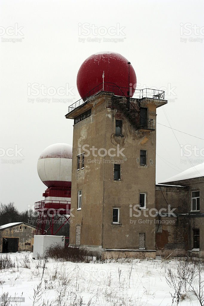 tower with a dome stock photo