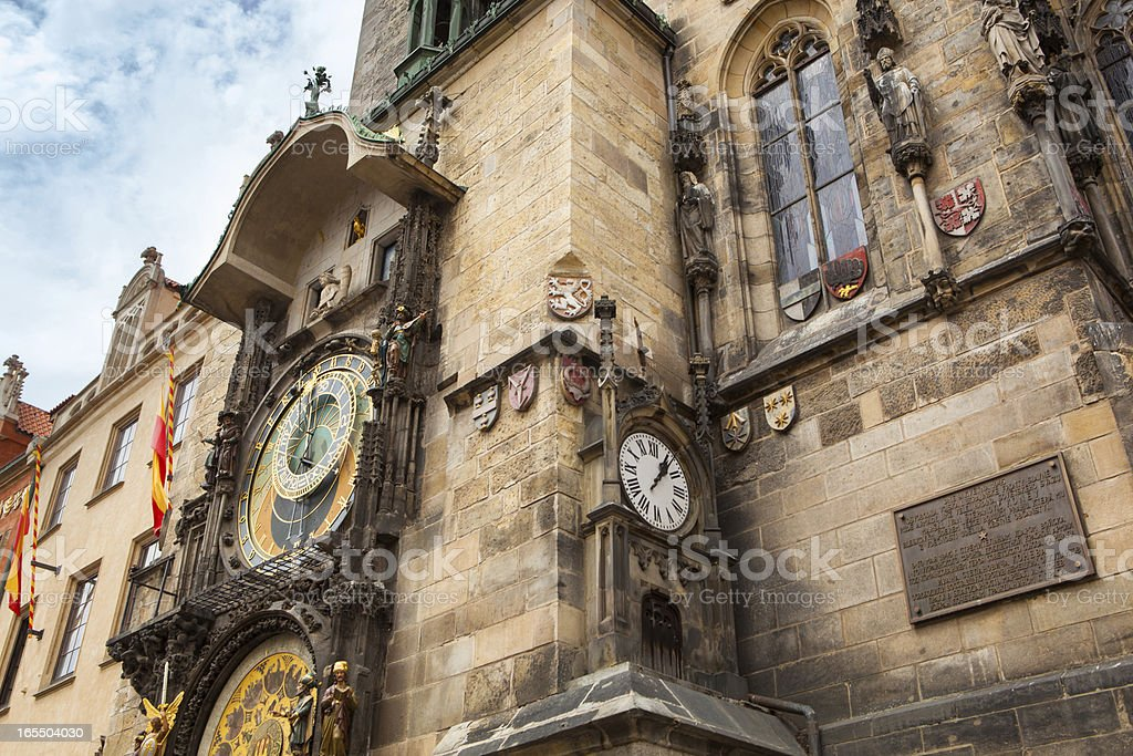 Tower with Astronomical Clock in Prague royalty-free stock photo