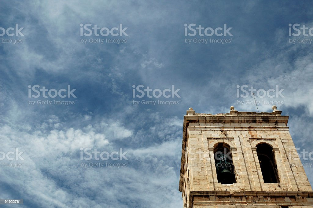 Tower with bells royalty-free stock photo