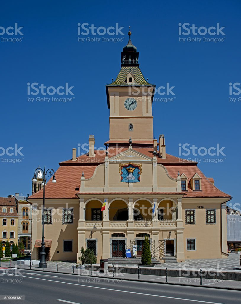 Tower with clock - Brasov stock photo