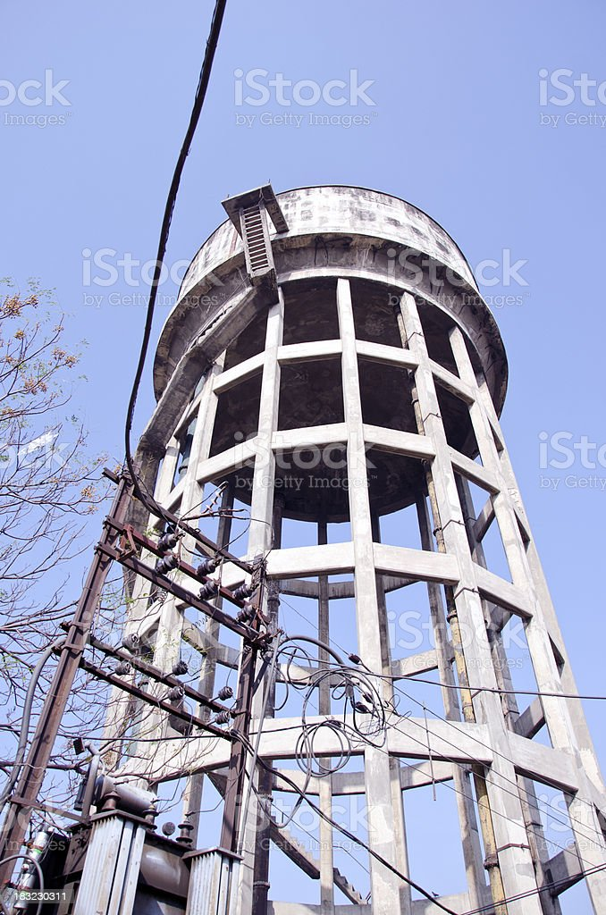 tower with electrical cable in Amritsar, India royalty-free stock photo