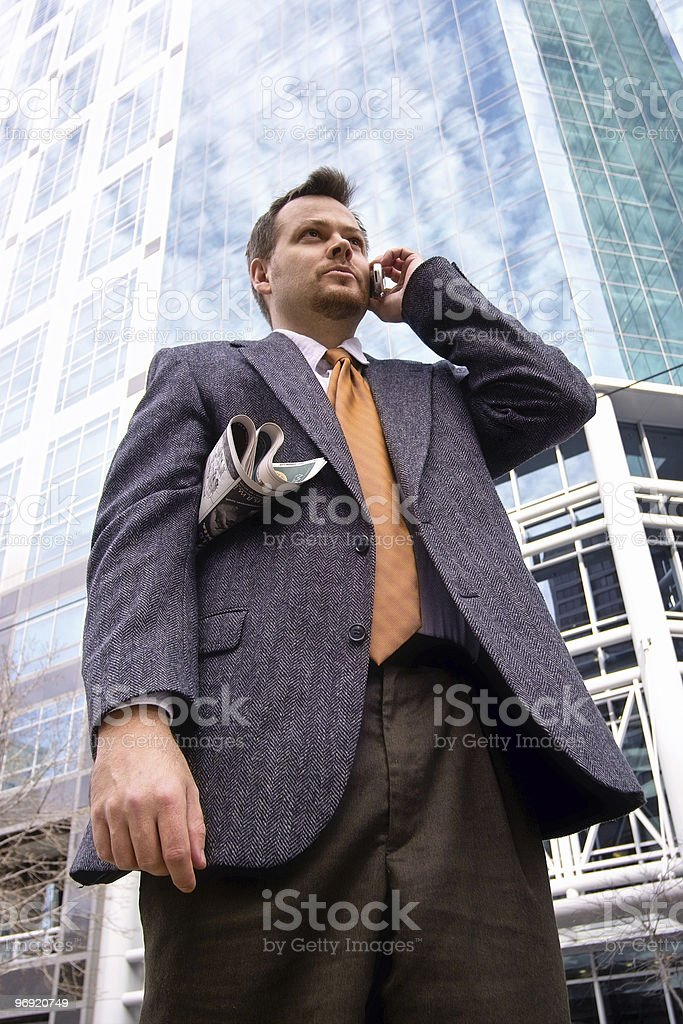 Towering Business Man II royalty-free stock photo