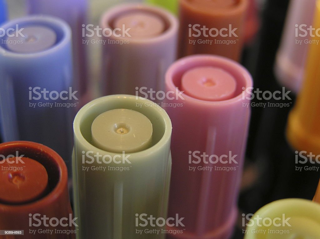 Towering Markers royalty-free stock photo