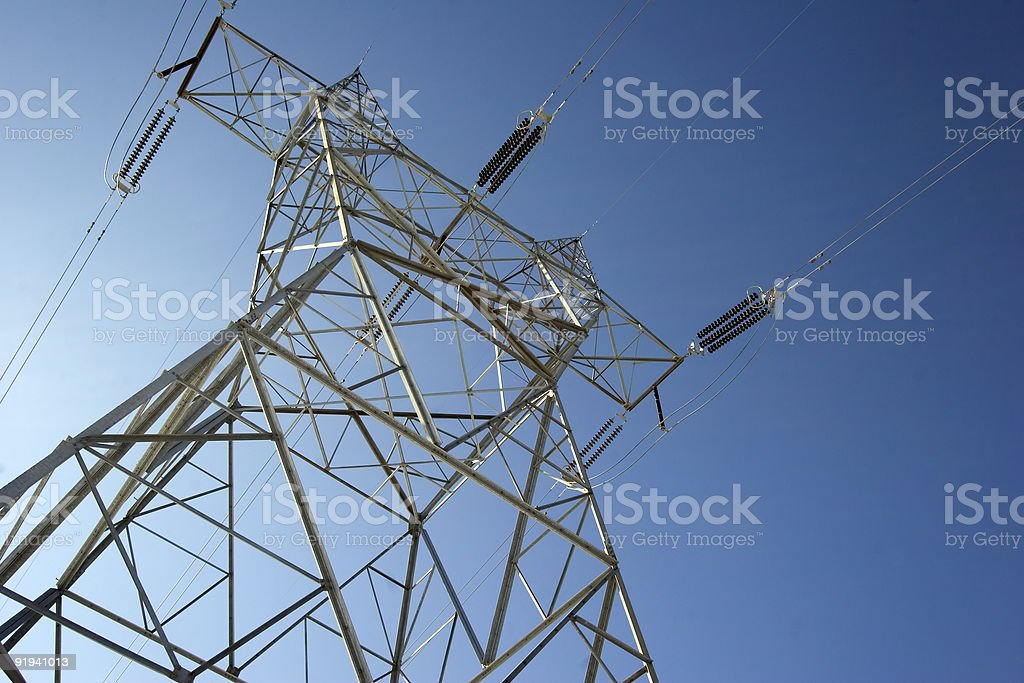 Towering Power Line royalty-free stock photo