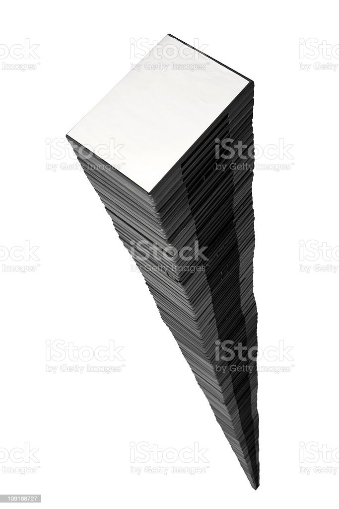 Towering Stack of DVDs royalty-free stock photo