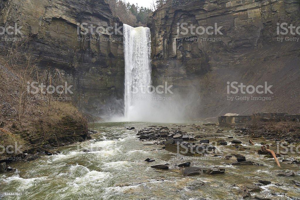 Towering Taughannock Falls stock photo